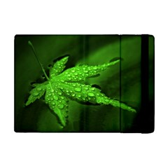 Leaf With Drops Apple Ipad Mini Flip Case