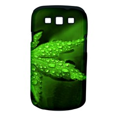 Leaf With Drops Samsung Galaxy S III Classic Hardshell Case (PC+Silicone)