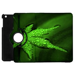 Leaf With Drops Apple iPad Mini Flip 360 Case