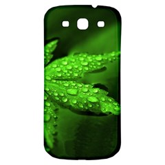 Leaf With Drops Samsung Galaxy S3 S III Classic Hardshell Back Case