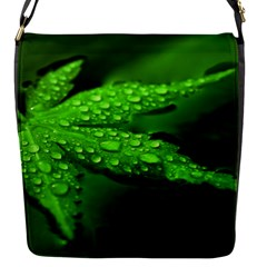 Leaf With Drops Flap closure messenger bag (Small)