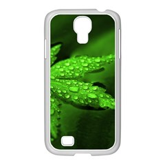 Leaf With Drops Samsung Galaxy S4 I9500/ I9505 Case (white)