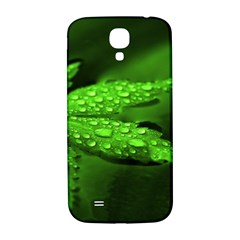 Leaf With Drops Samsung Galaxy S4 I9500/I9505  Hardshell Back Case