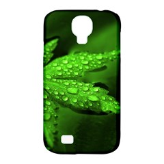 Leaf With Drops Samsung Galaxy S4 Classic Hardshell Case (PC+Silicone)