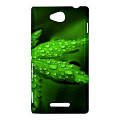 Leaf With Drops Sony Xperia C (S39h) Hardshell Case