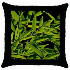 Bamboo Black Throw Pillow Case