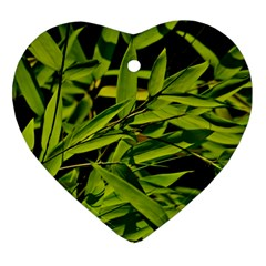 Bamboo Heart Ornament (Two Sides)