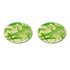 Bamboo Cufflinks (Oval)