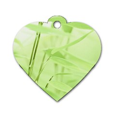 Bamboo Dog Tag Heart (One Sided)