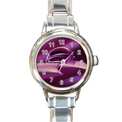 Waterdrop Round Italian Charm Watch