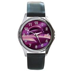 Waterdrop Round Metal Watch (Silver Rim)