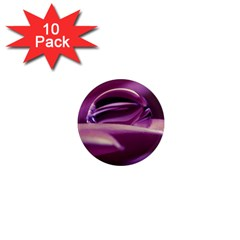 Waterdrop 1  Mini Button Magnet (10 pack)