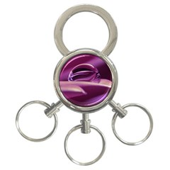 Waterdrop 3-Ring Key Chain