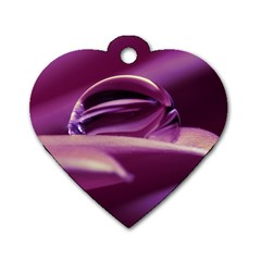 Waterdrop Dog Tag Heart (two Sided)