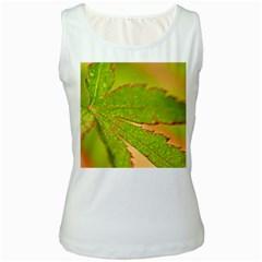 Leaf Womens  Tank Top (White)