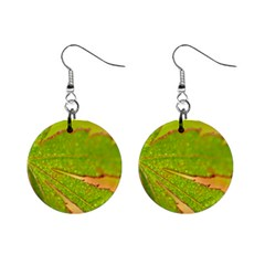 Leaf Mini Button Earrings