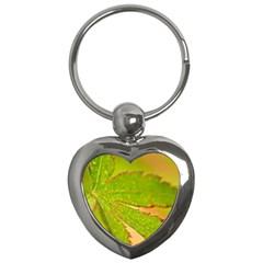 Leaf Key Chain (Heart)