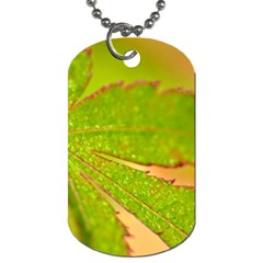 Leaf Dog Tag (Two-sided)