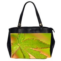 Leaf Oversize Office Handbag (Two Sides)