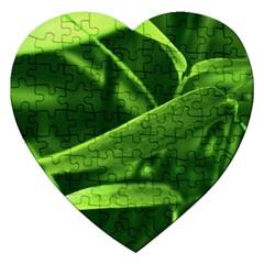 Bamboo Jigsaw Puzzle (heart)