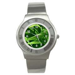 Bamboo Stainless Steel Watch (Unisex)