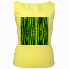 Bamboo Womens  Tank Top (Yellow)