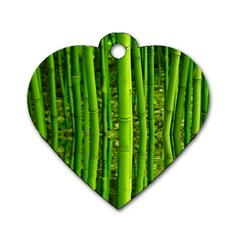 Bamboo Dog Tag Heart (Two Sided)
