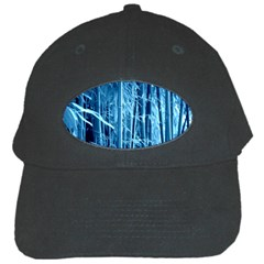Blue Bamboo Black Baseball Cap