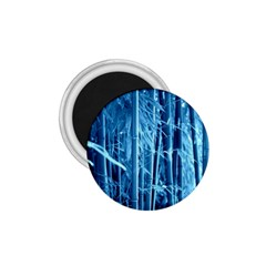 Blue Bamboo 1.75  Button Magnet