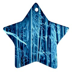 Blue Bamboo Star Ornament