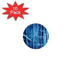 Blue Bamboo 1  Mini Button (10 pack)