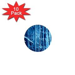 Blue Bamboo 1  Mini Button Magnet (10 Pack)