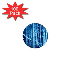 Blue Bamboo 1  Mini Button Magnet (100 pack)