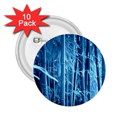 Blue Bamboo 2.25  Button (10 pack)