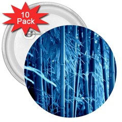 Blue Bamboo 3  Button (10 pack)
