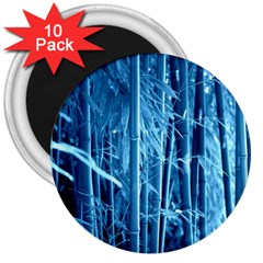 Blue Bamboo 3  Button Magnet (10 pack)