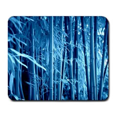 Blue Bamboo Large Mouse Pad (Rectangle)
