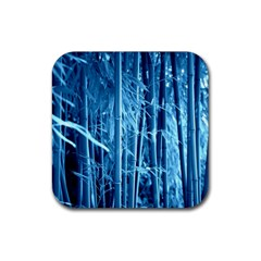 Blue Bamboo Drink Coaster (Square)