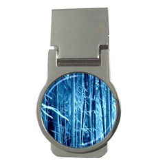 Blue Bamboo Money Clip (round)