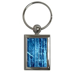 Blue Bamboo Key Chain (rectangle)