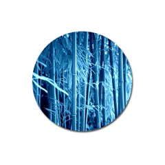 Blue Bamboo Magnet 3  (Round)