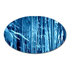 Blue Bamboo Magnet (oval)