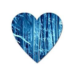 Blue Bamboo Magnet (Heart)