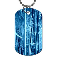 Blue Bamboo Dog Tag (one Sided)
