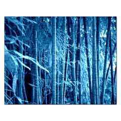 Blue Bamboo Jigsaw Puzzle (rectangle)