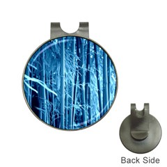 Blue Bamboo Hat Clip with Golf Ball Marker