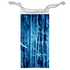 Blue Bamboo Jewelry Bag