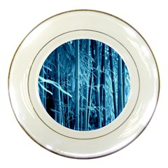 Blue Bamboo Porcelain Display Plate
