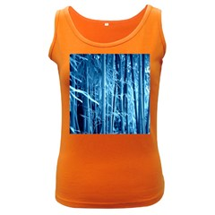 Blue Bamboo Womens  Tank Top (dark Colored)