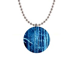 Blue Bamboo Button Necklace